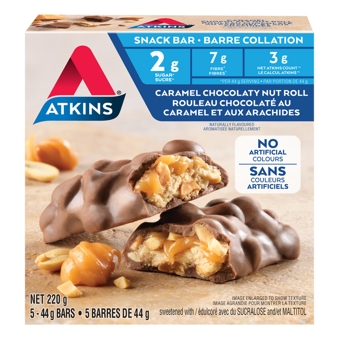 Atkins Caramel Chocolaty Nut Roll Snack Bar