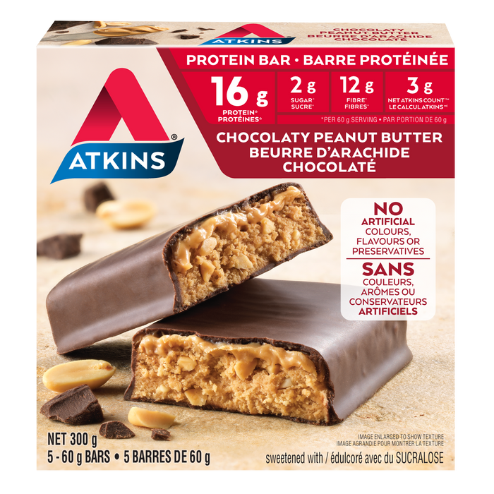 Atkins Chocolaty Peanut Butter Protein Bar