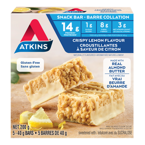 Atkins Crispy Lemon Flavour Snack Bar