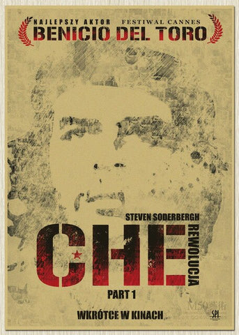 "Affiche ""Che Guevara Biography"" bleu clair"