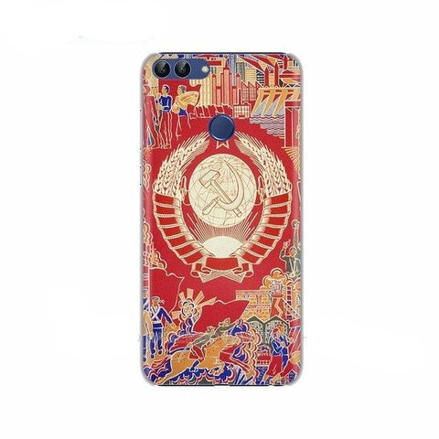 Coque silicone Huawei ou Honor écusson communiste