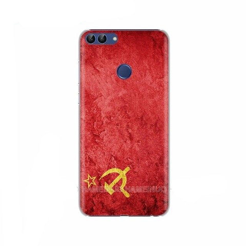 Coque silicone Huawei Honor drapeau communiste