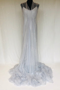 Embroidered Tulle and Knitted Metallic Voile - Glasgow Fabric Store