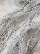 Load image into Gallery viewer, Embroidered Tulle and Knitted Metallic Voile - Glasgow Fabric Store