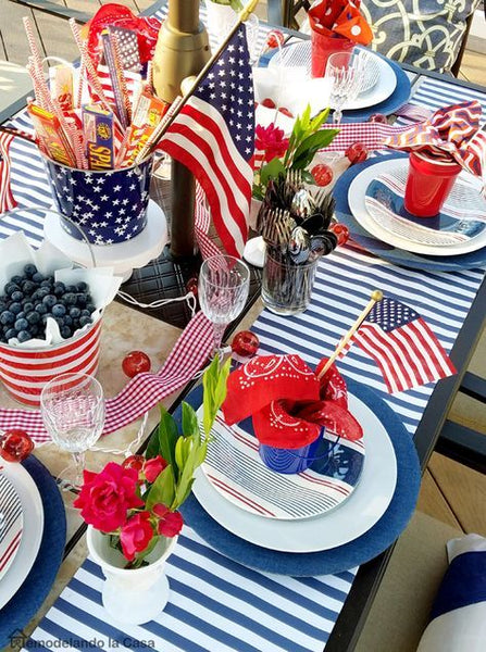 4th of July Table Decor_photo remodelacasa