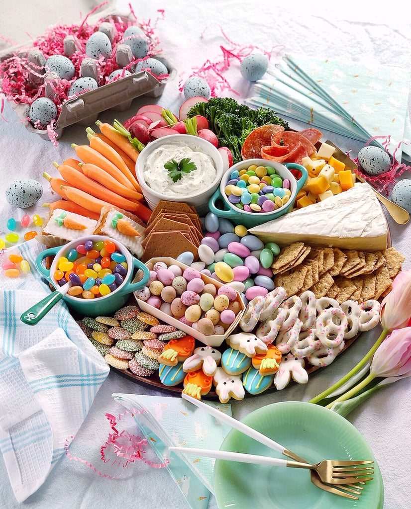 Riles & Bash_Easter Fun Ideas_Easter grazing board_photo: domesticatedlife