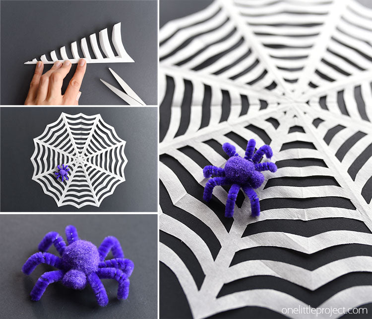Halloween Crafts_Quarantine Halloween_what to do instead of trick or treating_Riles & Bash party_photo onelittleproject.com