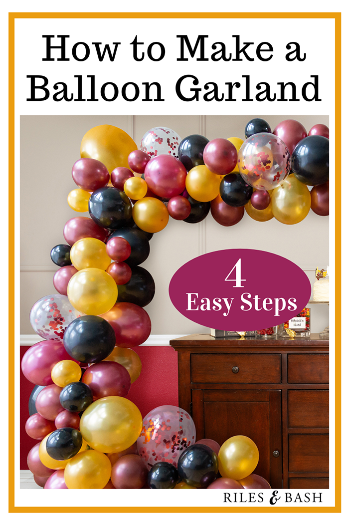 Riles & Bash online party supplies_How to Make a Balloon Garland_balloon garland_balloons