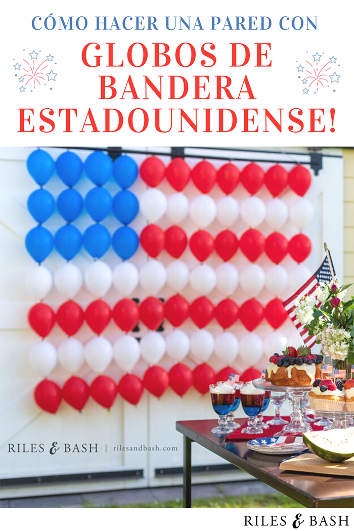 Riles & Bash party shop_How to Make an American Flag Balloon Wall_Red White and Blue Balloons_Link Balloons