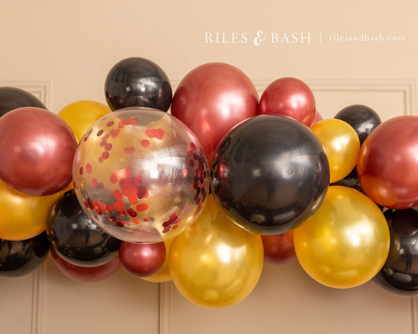 Riles & Bash Party Supplies_online party shop_ balloons_burgundy_black_gold_balloon garland