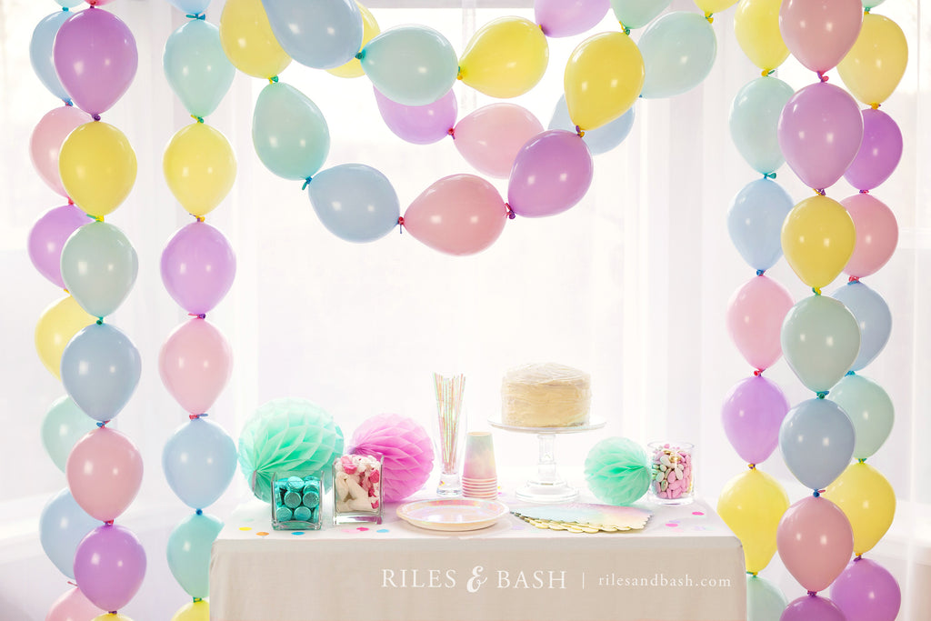 Riles & Bash Party Shop_Pastel Link Balloon Garland