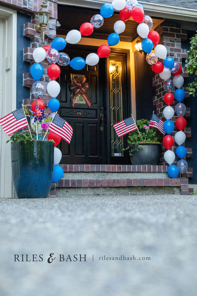 Riles & Bash party shop_red white and blue balloons 4th of july_link balloon garland_photo Riles & Bash