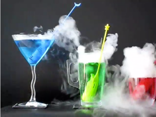 Dry Ice Stirrers for Spooky Halloween Cocktails