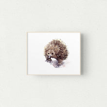 Load image into Gallery viewer, Echidna Watercolour Print - Winter Owls