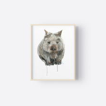 Load image into Gallery viewer, Wombat Watercolour Print - Winter Owls