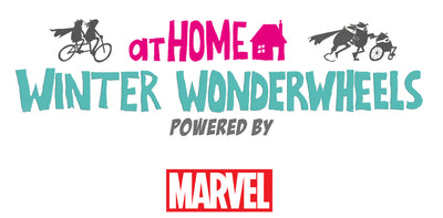 We are partnering At home Winter Wonderwheels powered by Marvel 2020