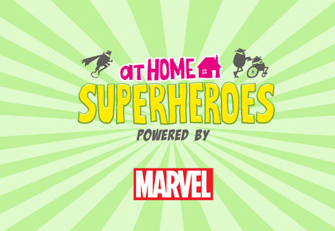 At home superheroes