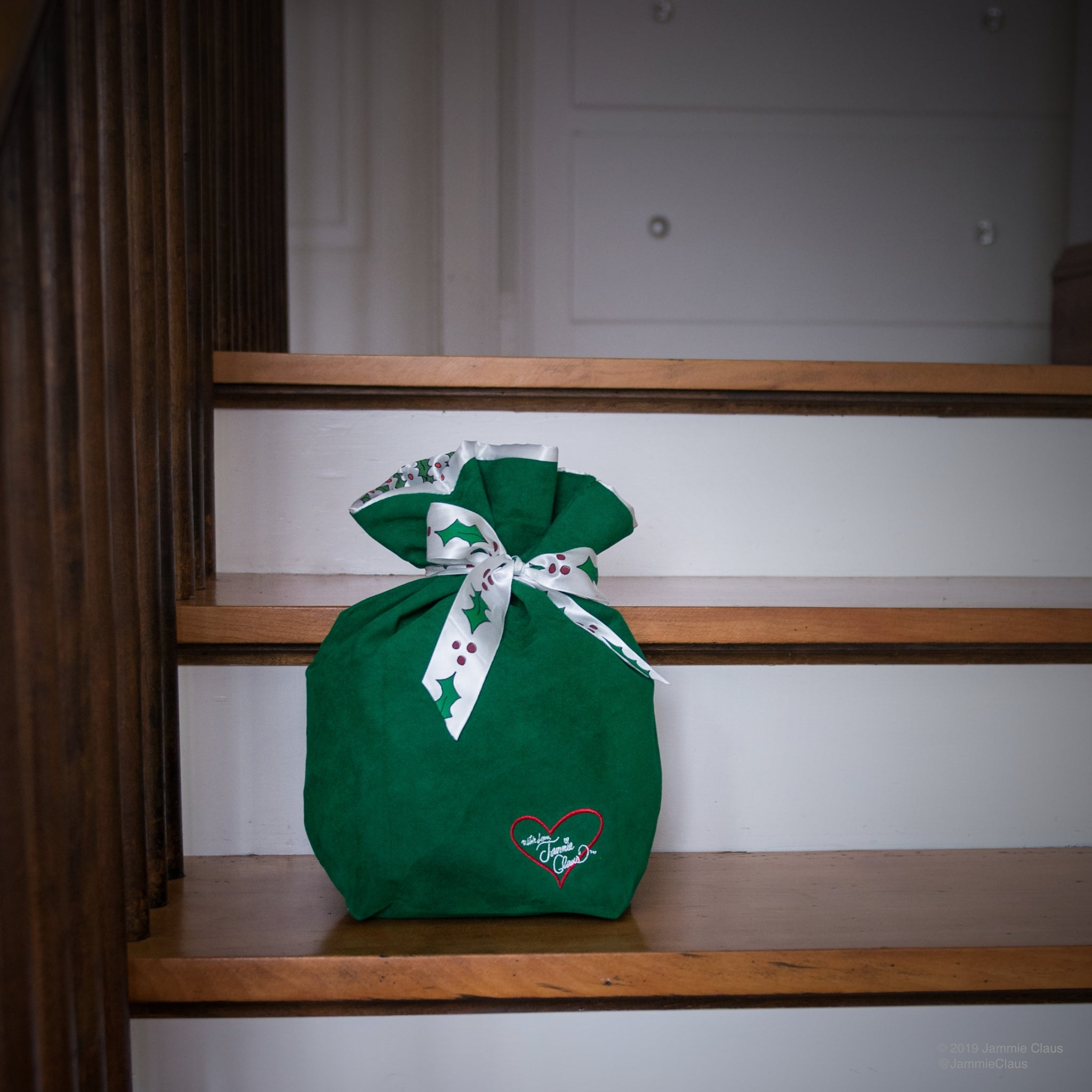 Jammie Claus Bag found on the steps