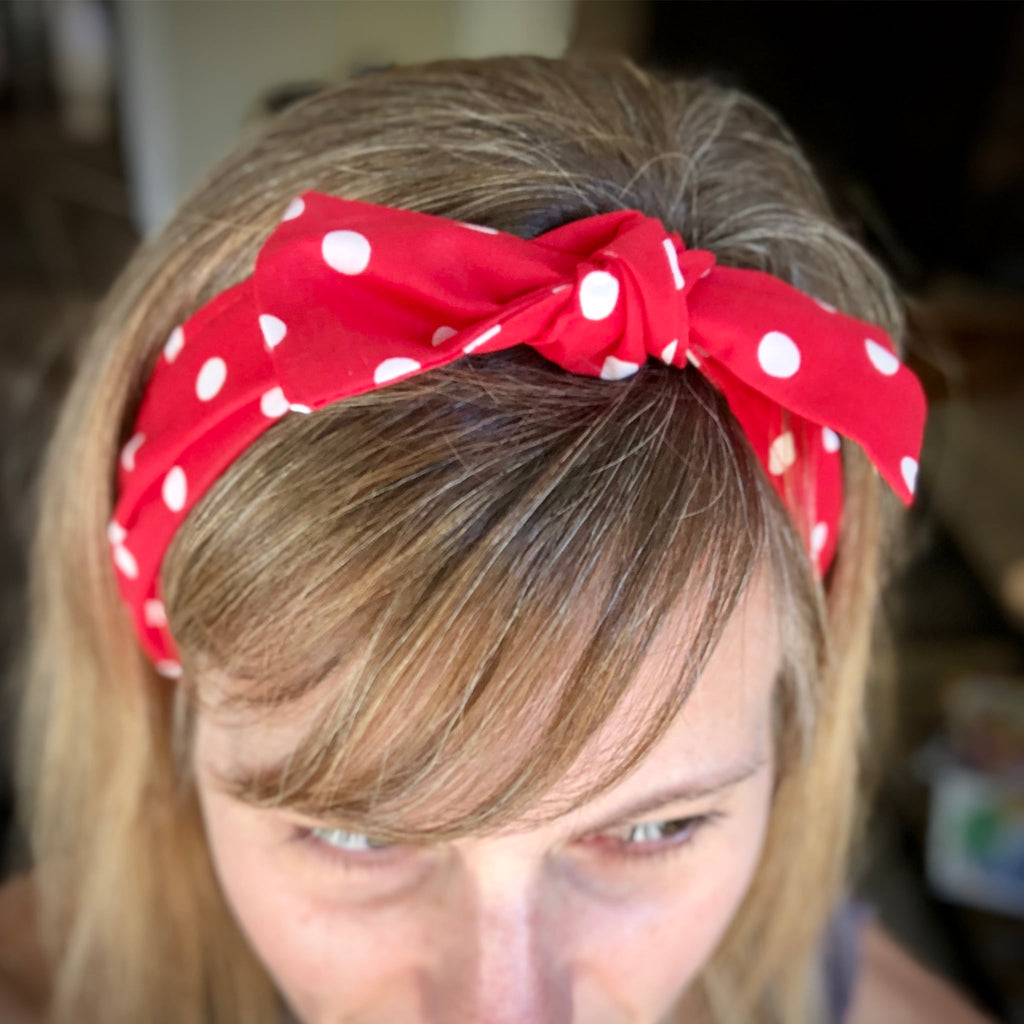 Jammie Claus Empowerment Head Scarf worn by Jammie Claus author Megan Holmes