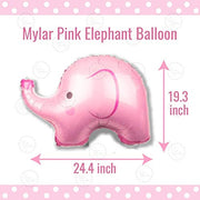 Girl Baby Shower Party Supplies | Elephant Theme | Rain Meadow