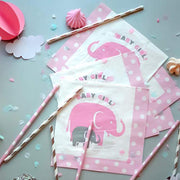 Girl Baby Shower Party Supplies | Elephant Theme