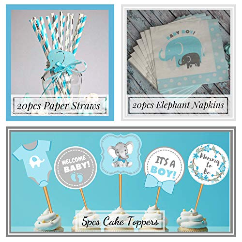 Boy Baby Shower Decorations | Jumbo Kit | Elephant Theme