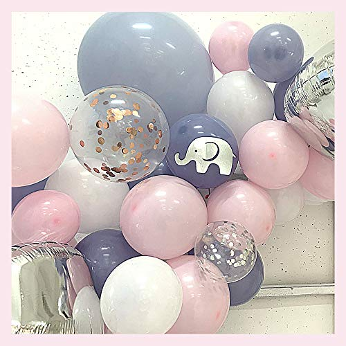 165 pc Baby Shower Decorations for Girl, Birthday Girl, Balloon Garland Arch, Banner and Balloons Boxes, Elephant Baby Shower and Birthday Decorations | Rain Meadow