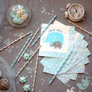 Boy Baby Shower Party Supplies | Elephant Theme | Rain Meadow