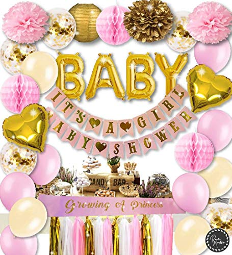 Girl Baby Shower Decorations | Pink and Gold