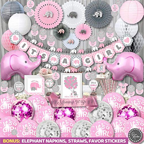 Girl Baby Shower Decorations | Elephant Theme