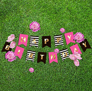 Happy Birthday Banner for Girls & Women | Kate Spade inspired | Rain Meadow
