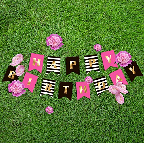 Happy Birthday Banner for Girls & Women | Kate Spade inspired