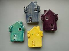 Hand Thrown Pottery Castle Magnet