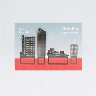 City Clips Page Markers - London Brutalist
