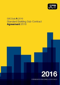 JCT Standard Building Subcontract Agreement 2016