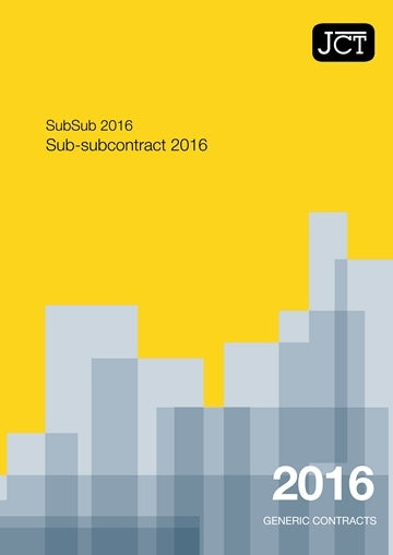 JCT Sub-Subcontract 2016