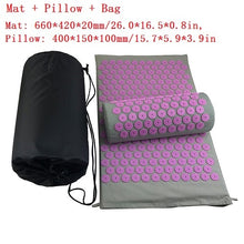 Load image into Gallery viewer, Massager Cushions Acupressure Relieve Back Pain Spike Mat Massage Yoga Mats Yoga Mat with Pillow Needle Massager