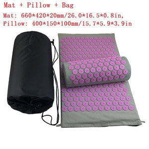 Massager Cushions Acupressure Relieve Back Pain Spike Mat Massage Yoga Mats Yoga Mat with Pillow Needle Massager