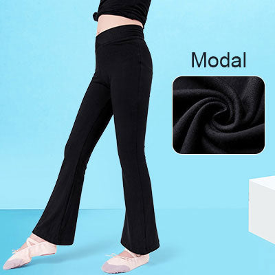 Kids Flare Dance Pants High Waist Sport Pants Girl Sweatpants Yoga Running Pants Sportswear Fitness Leggings