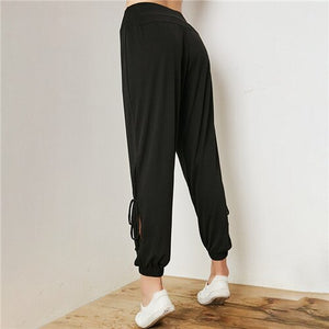 Sport Pants Women Loose Yoga Dance Sports Trousers High Waist Training Running Jogging Pants Fitness Gym Sweatpants Sportswear