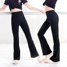 Load image into Gallery viewer, Kids Flare Dance Pants High Waist Sport Pants Girl Sweatpants Yoga Running Pants Sportswear Fitness Leggings
