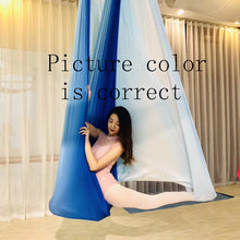 Load image into Gallery viewer, Elastic 5 meters 2017 Aerial Yoga Hammock Swing Latest Multifunction Anti-gravity Yoga belts for yoga training Yoga for sporting