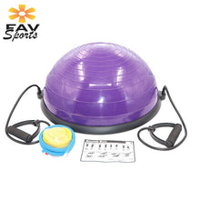 Load image into Gallery viewer, 58cm Yoga Balance Ball Gym Workout Ball Pilates Half Yoga Ball Exercises Training Fitball With Strings & Pump