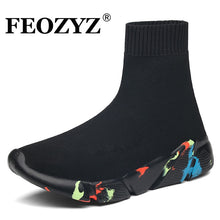 Load image into Gallery viewer, FEOZYZ Sneakers Women Men Knit Upper Breathable Sport Shoes Sock Boots Woman Chunky Shoes High Top Running Shoes For Men Women