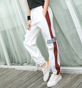 EF8162 Loose Running  Pants Yoga Women Elastic Waist Quick Dry Training Jogging Trousers Female Exercise Sports Pants Autumn