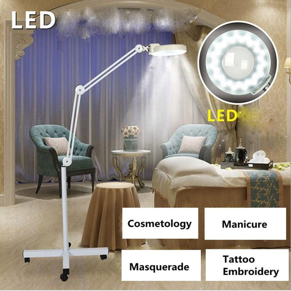 5X Magnifying Lighted Magnifier Light Floor LED Lamp