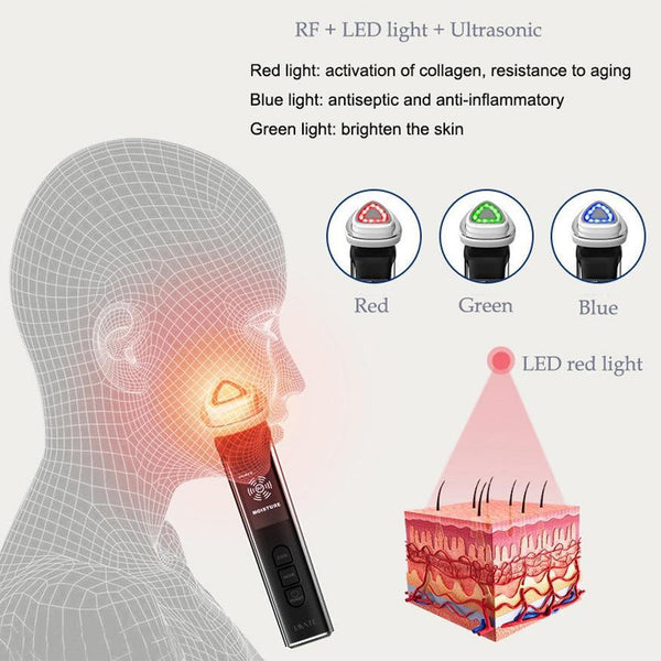 Face Photon RF Radio Frequency EMS Mesotherapy Led Light Therapy
