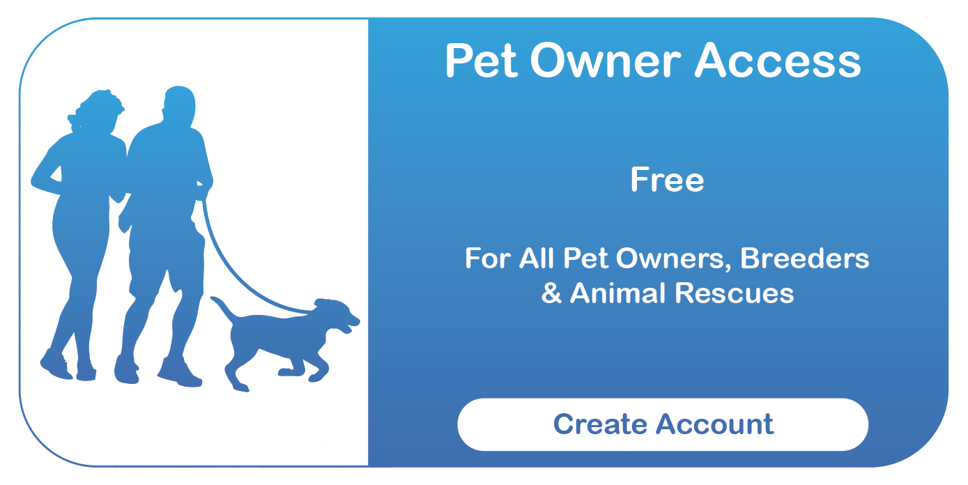 Central Animal Records Online Access Button - Pet Owners (Couple Walking Dog)