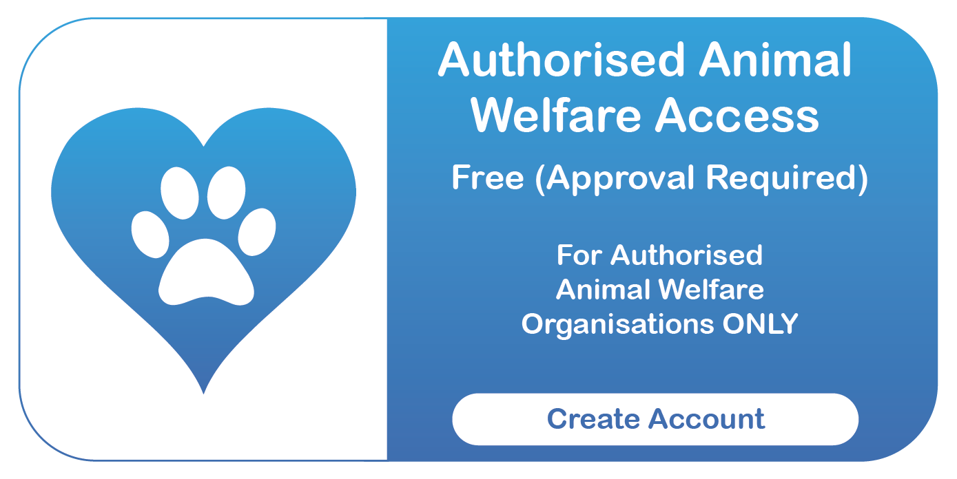 Central Animal Records Online Access Button - Animal Welfare Organisation (Heart)