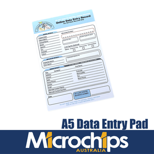 A5 Online Data Entry Record Notepad (100 Pages) For Companion Animals (Pets)